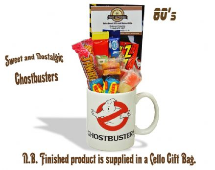 Ghostbusters Mug with/without a spooky selection of 80's retro sweets.